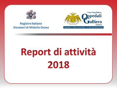 Report di attività anno 2018